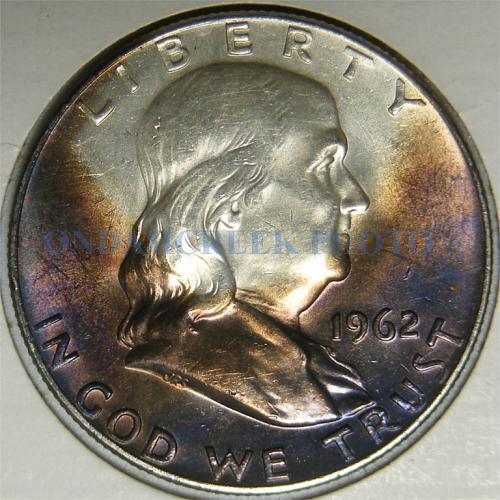 1962 Franklin Half Dollar Toned