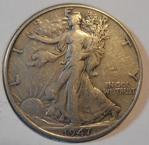 1947 P Walking Liberty Silver Half Dollar  (47PAC1)