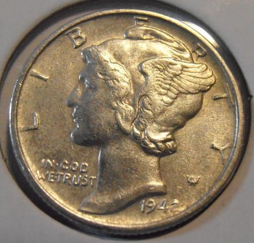 1942 P Mercury Silver Dime (42PAC1)