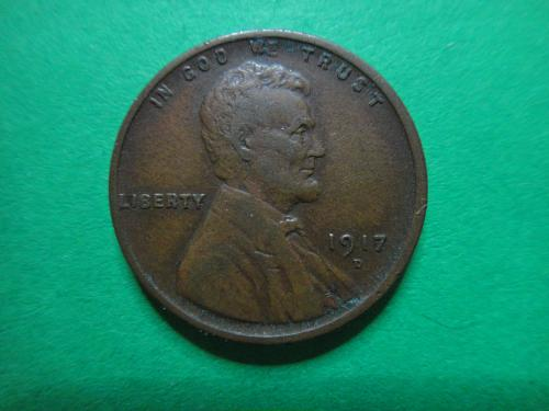 1917-D Lincoln Cent Very Fine-30 SHARP Wheat Lines For Date & Grade!