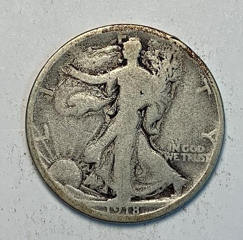1918-D Walking Liberty Half Dollar [WL 93]