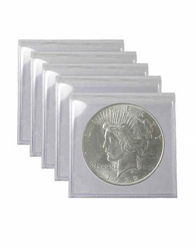 1922 Silver Peace Dollar BU Lot of 5 S$1 Coins