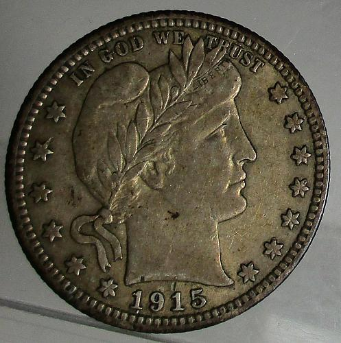 1915 P Barber Quarter - Nice Original Coin ***