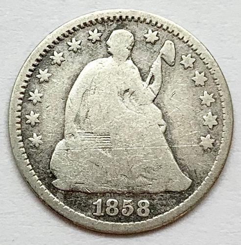 1858 Seated Liberty Half Dime