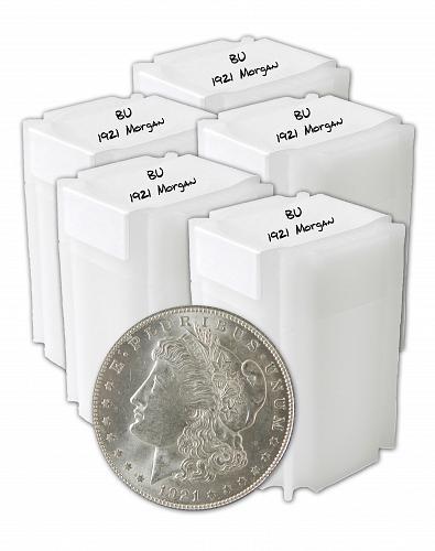 1921 Silver Morgan Dollar BU Lot of 100 S$1 Coins