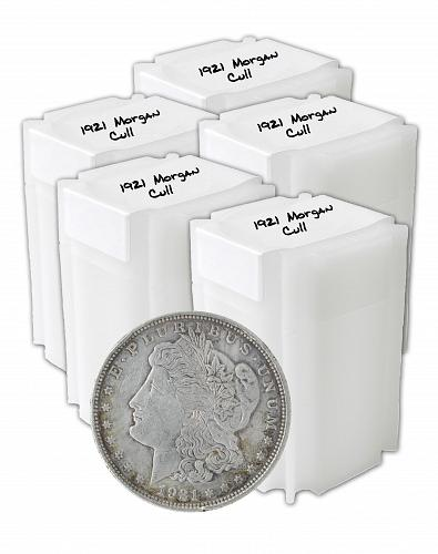 1921 Silver Morgan Dollar Cull Lot of 100 S$1 Coins