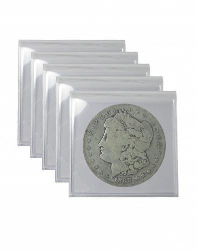 Pre 1921 Silver Morgan Dollar Cull Lot of 5 S$1 Coins