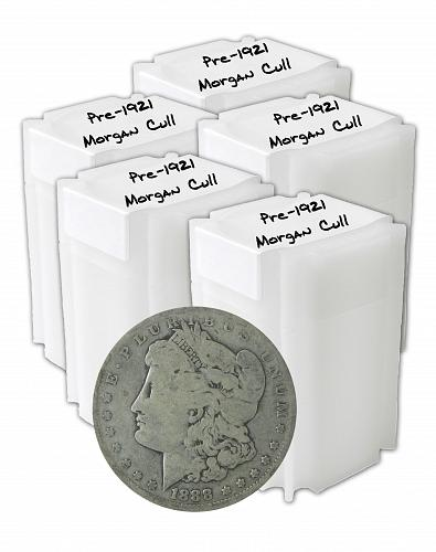 Pre 1921 Silver Morgan Dollar Cull Lot of 100 S$1 Coins