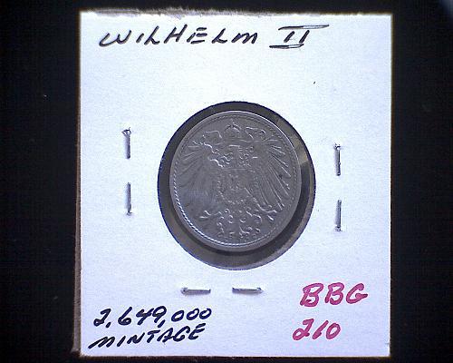 1912E  GERMANY TEN PFENNIG