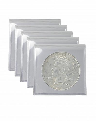 Silver Peace Dollar Cull Lot of 5 S$1 Coins