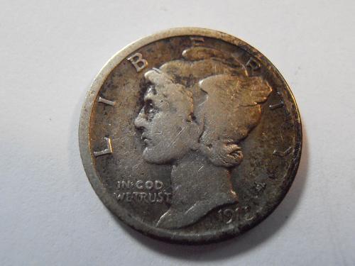 1917 S Mercury Silver Dime (17SFN1)
