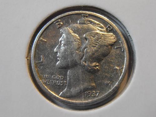 1937 P Mercury Silver Dime (37PM3)