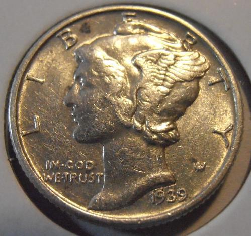 1939 P Mercury Silver Dime (39PAC1)