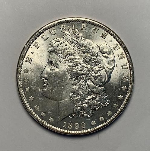 1890 Morgan Silver Dollar UNC [MDL 112]