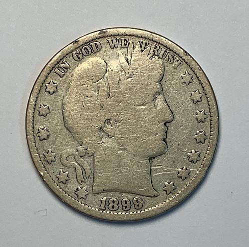 1889 Barber Half Dollar VG [BH 23]