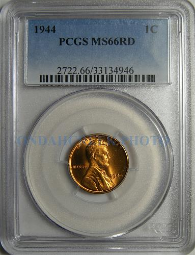 1944 Lincoln Cent PCGS MS-66 RED