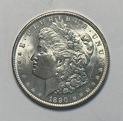 1890 Morgan Silver Dollar AU58/Slider UNC [MDL 123]