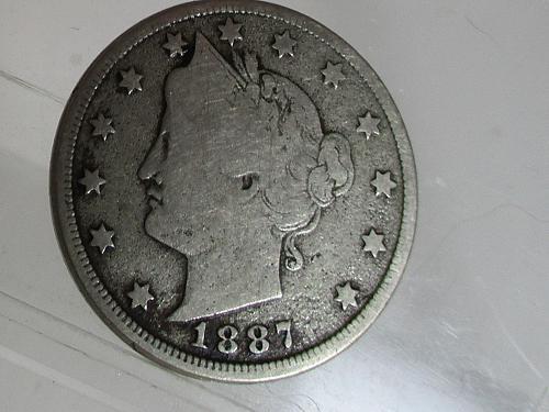 1887 P Liberty Nickel
