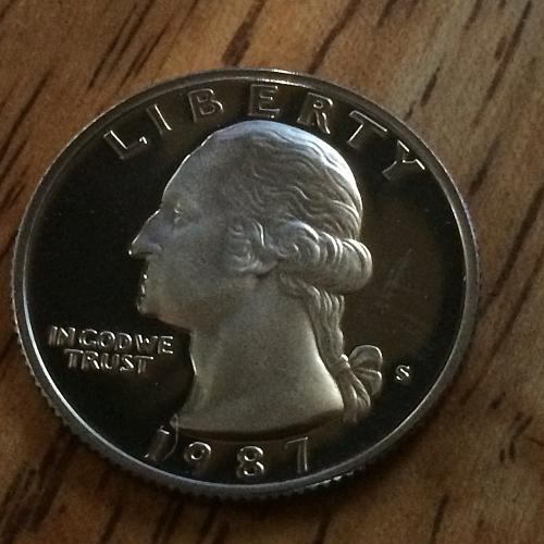 1987 S Washinton Quarter Proof