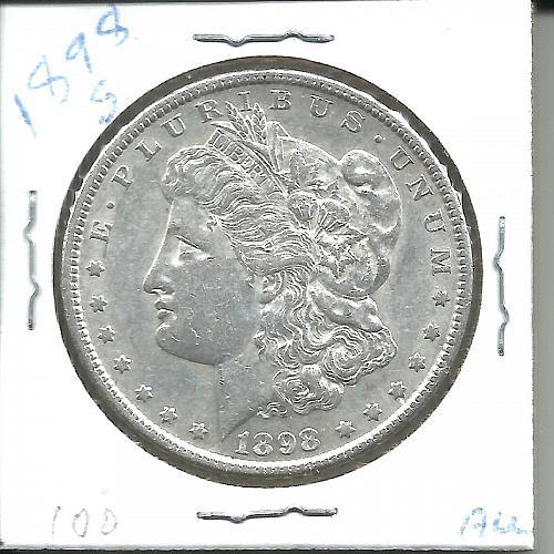 1898   S    MORGAN DOLLAR