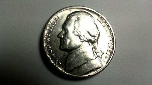 1987 P Jefferson Nickels