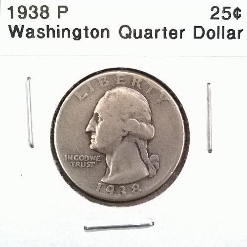 1938 P Washington Quarter Dollar - 6 Photos!