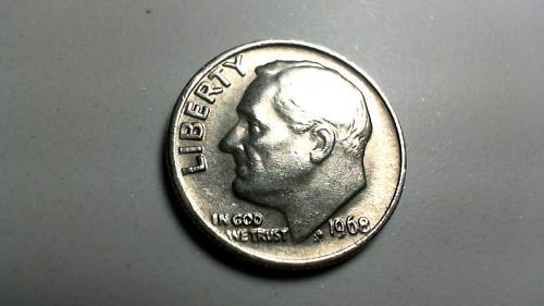 1968 P Roosevelt Dimes