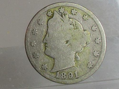 1891 P Liberty Nickel  #2
