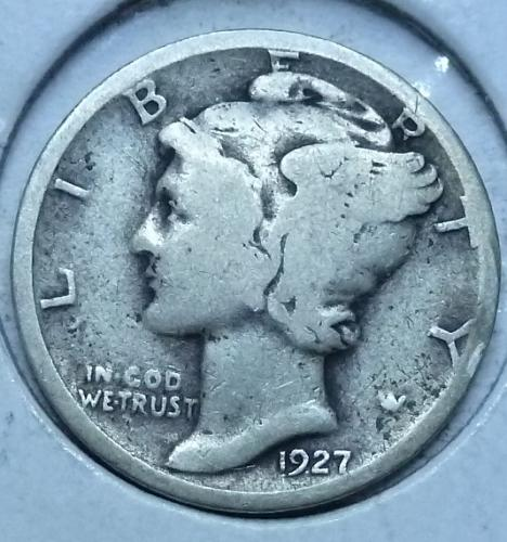1927-P FINE Mercury Dime   ( 1043)