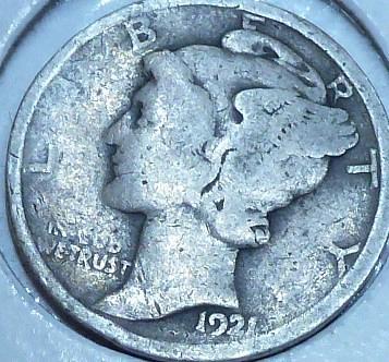 1921-P Good Mercury Dime G ( 1030 )