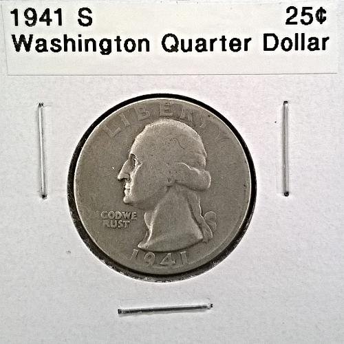 1941 S Washington Quarter Dollar - 6 Photos!