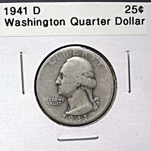 1941 D Washington Quarter Dollar - 6 Photos!