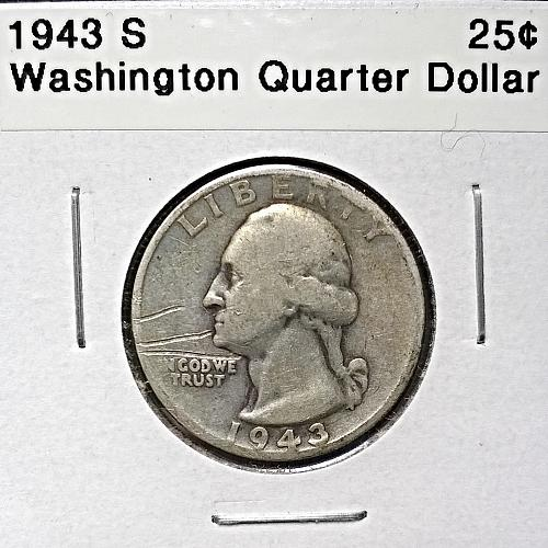 1943 S Washington Quarter Dollar - 6 Photos!