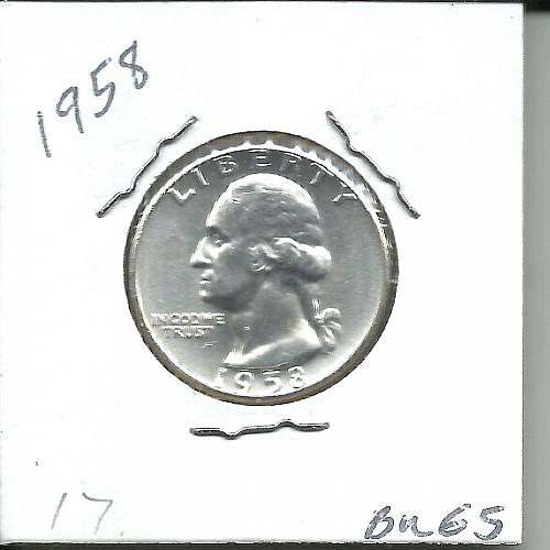 1958  P  WASHINGTON QUARTER