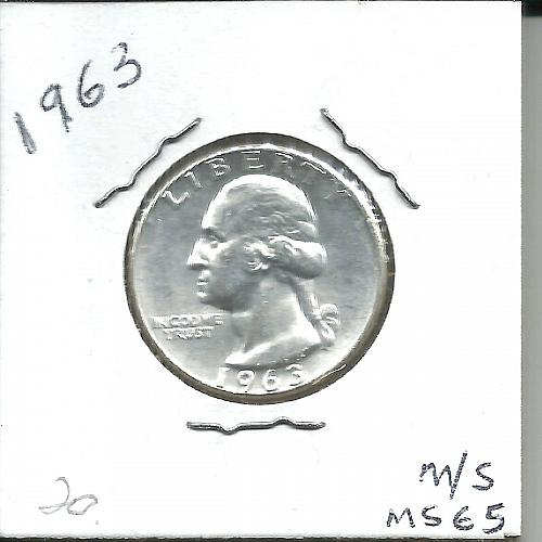 1963   P   WASHINGTON QUARTER