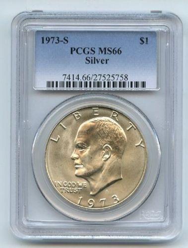 1973 S $1 Silver Ike Eisenhower Dollar PCGS MS66