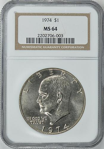 1974 Eisenhower Dollar - Brilliant Uncirculated NGC Shipping included