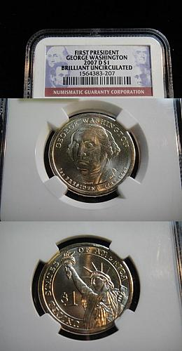 2007-D WASHINGTON PRESIDENTIAL DOLLAR