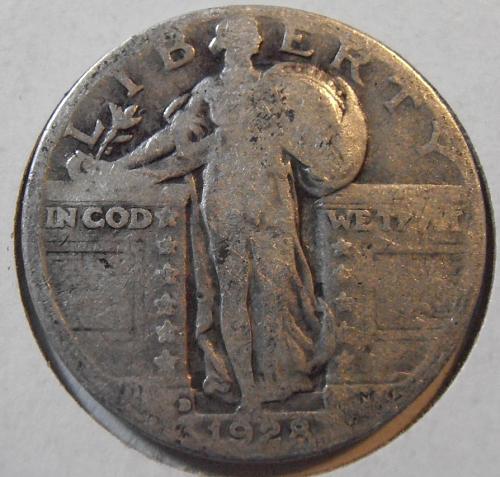 1928 D Liberty Standing Quarter (28DR1)