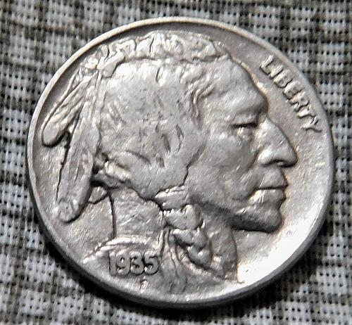 1935 P Buffalo//Indian Head Nickel