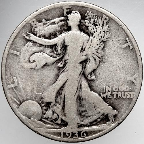 1936 D Walking Liberty Half Dollars #9