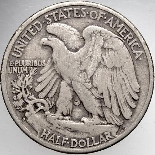 1936 D Walking Liberty Half Dollars #9