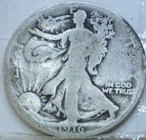 1916 P Very Good Walking Liberty Half Dollar  ( 30 )