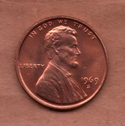 1969-S UNC Penny