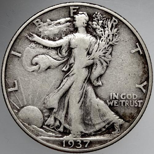 1937 P Walking Liberty Half Dollar #5