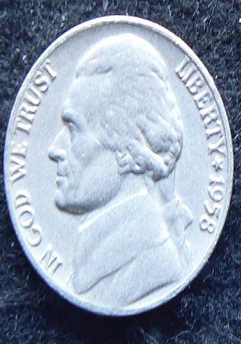1958 P Jefferson Nickel (FS VF)