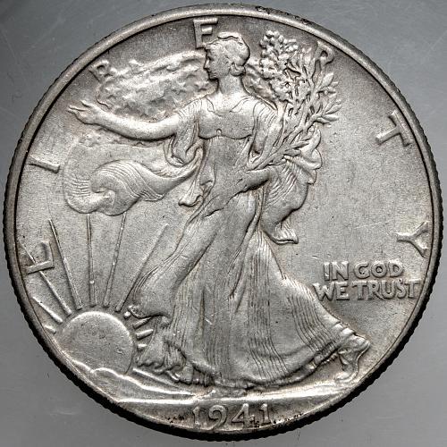 1941 P Walking Liberty Half Dollar #7