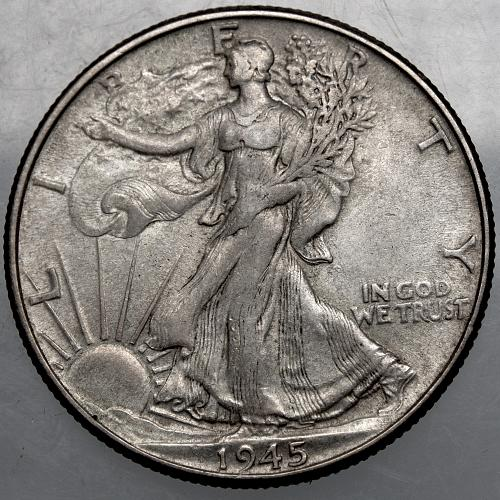 1945 P Walking Liberty Half Dollar #8