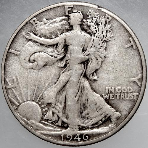 1946 D Walking Liberty Half Dollar #7