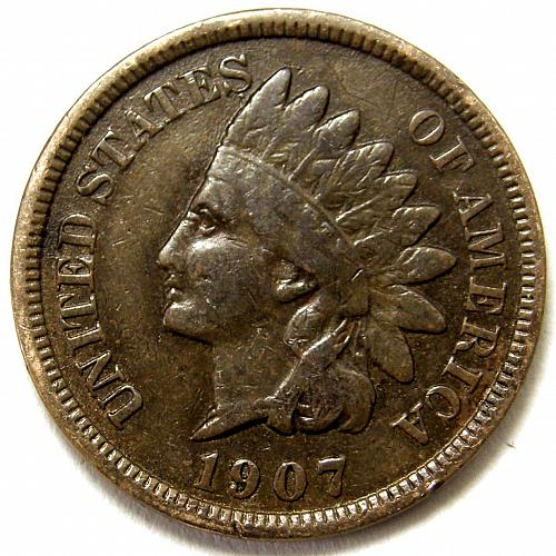 1907 P Indian Head Cent #7